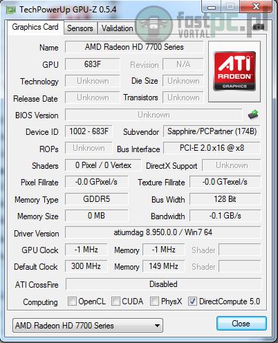 Screen GPU-Z